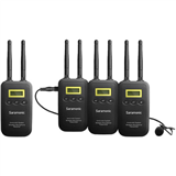 کیت بی سیم میکروفن یقه ایی سارامونیک Saramonic VmicLink5 RX+TX+TX+TX Camera-Mount Digital Wireless Microphone System with Three Bodypack Transmitters and Lavalier Mics (5.8 GHz)